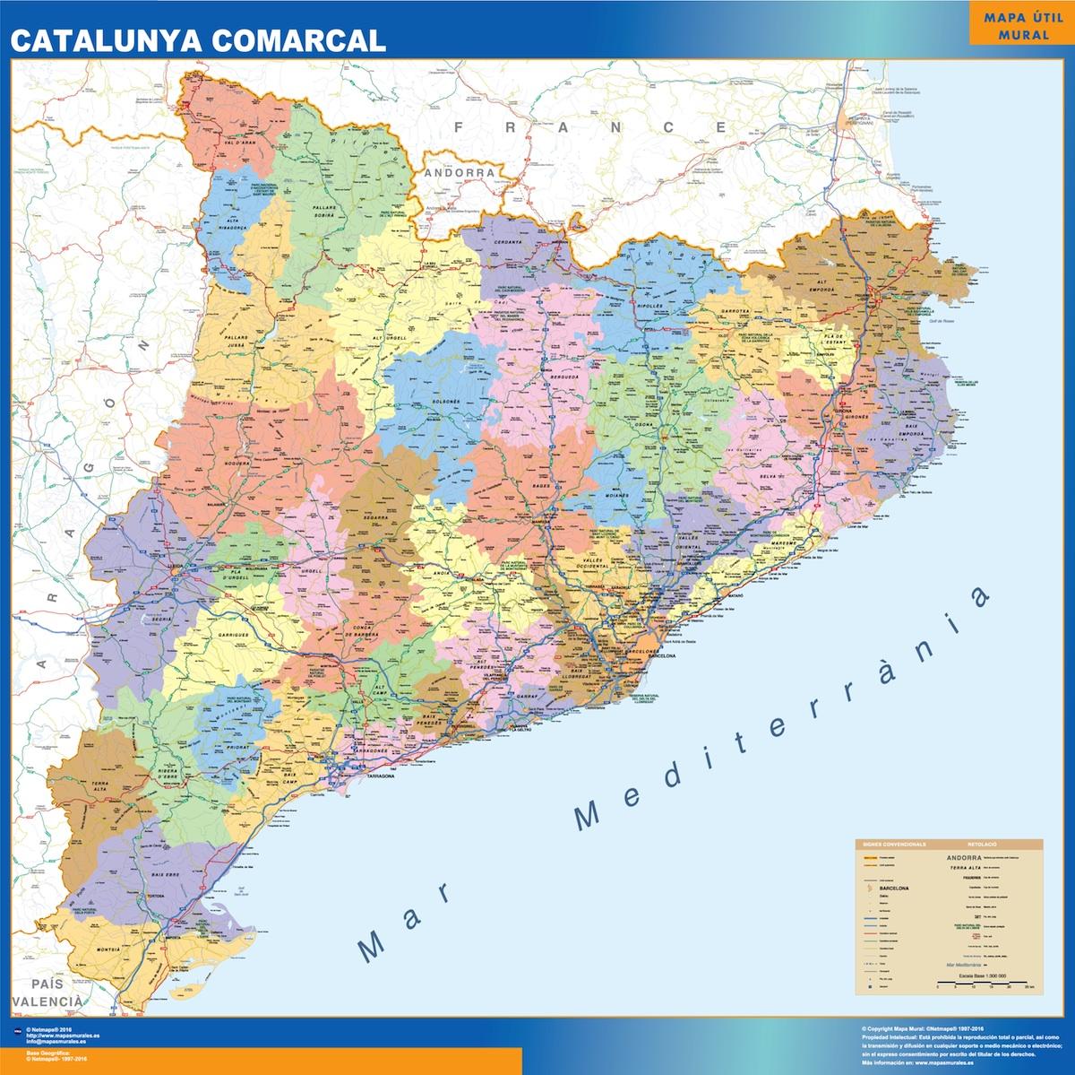 Mapa Catalunya Comarcal
