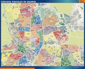 Mapas ciudades espa a con c digos postales buscar el for Mapa de codigos postales de madrid capital