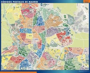 Mapa magn tico c digos postales de madrid mapas magn ticos for Mapa de codigos postales de madrid capital