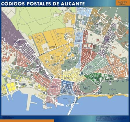 Alicante Mapas Murales