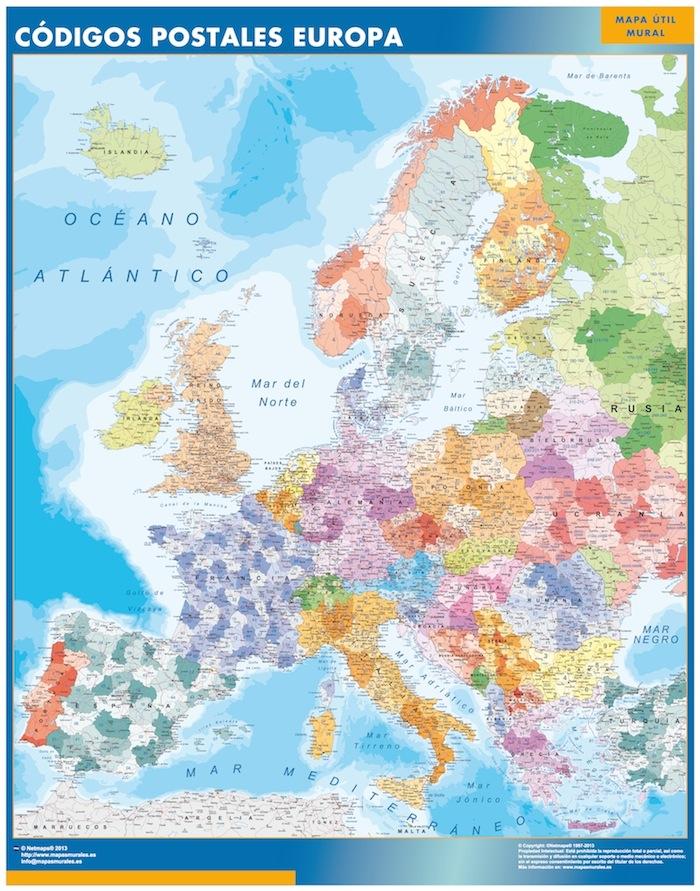 Europa códigos postales