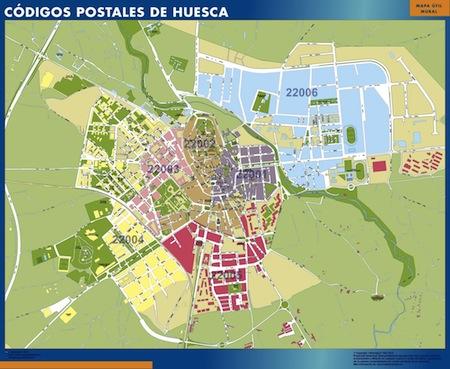 Mapa c digos postales de ciudades de espa a poster mapa c digos postales de ciudades de - Vinilo huesca ...