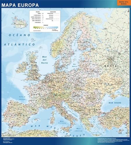 Mapa enmarcados Europa Politico