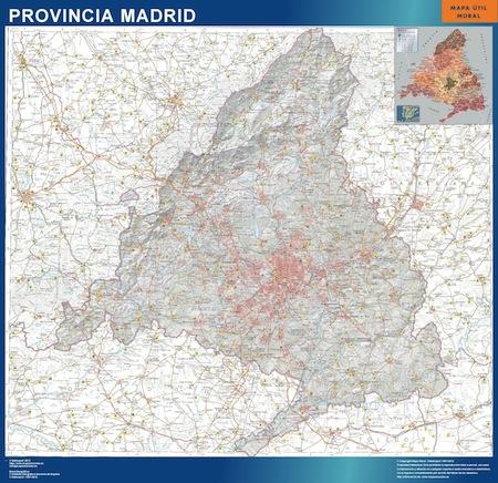 Mapa gigante ccaa de madrid for Codigo postal calle salamanca valencia