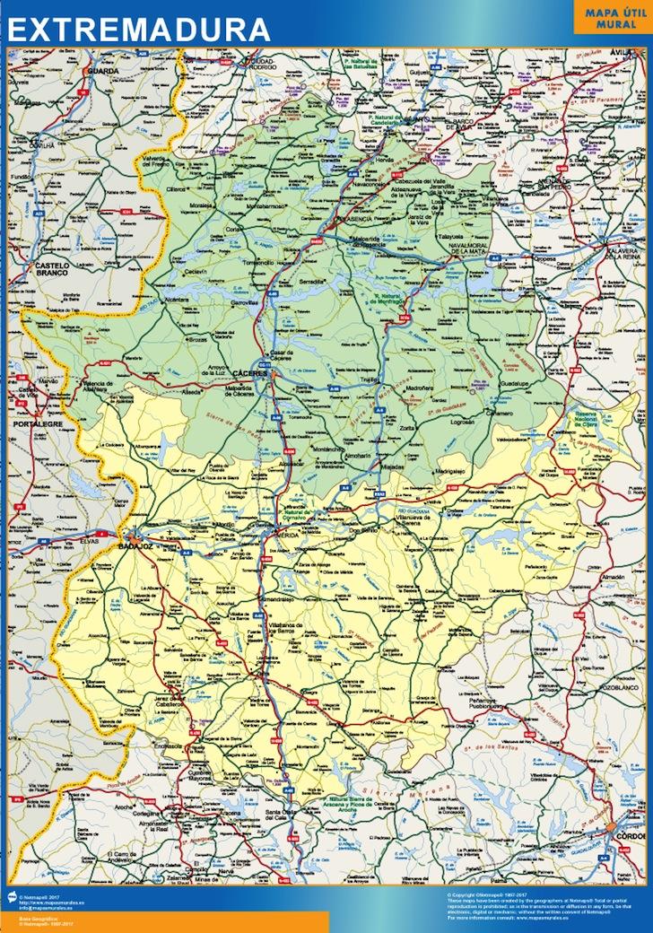mapa Extremadura provincias