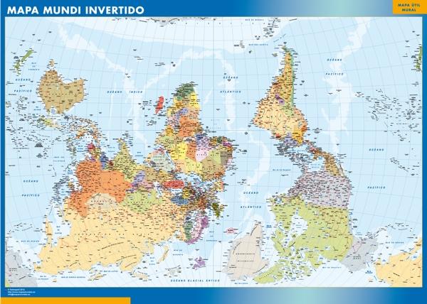 mapa mundi invertido