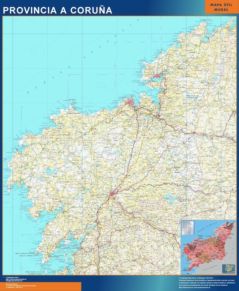 mapa provincia a coruna
