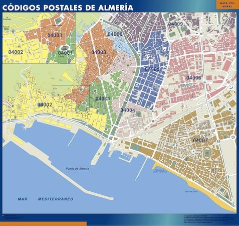 Mapa c digos postales de almer a mapas murales - Codigo postal mallorca palma ...
