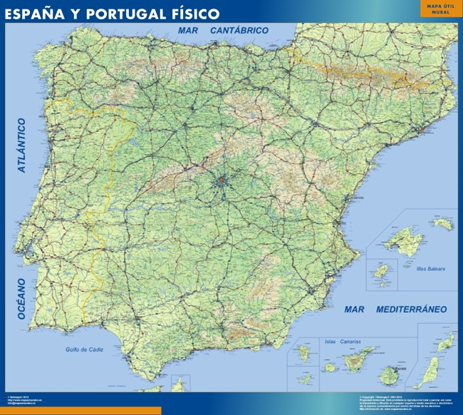 Mapas espana mapa fisico España Físico