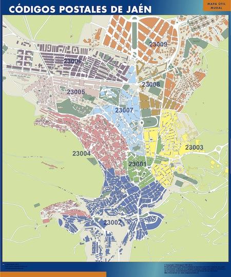 Mapa Codigos Postales Barcelona.Mapa Gigante Codigos Postales De Jaen Buscar El Mapa