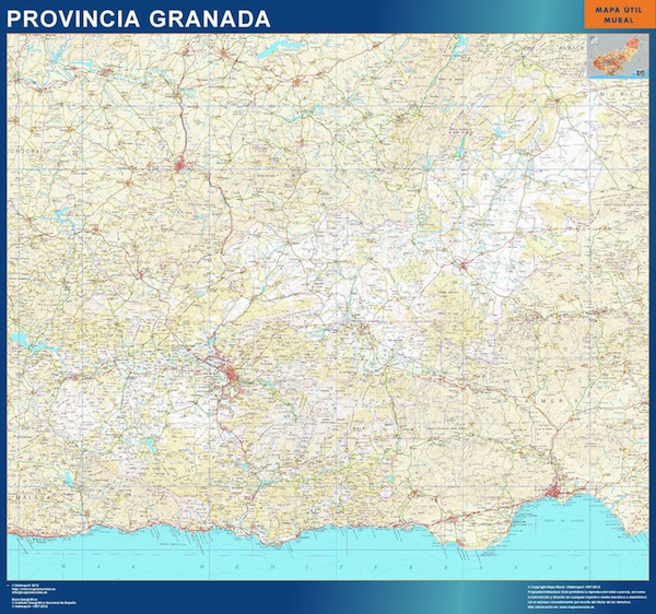 mapa provincia granada