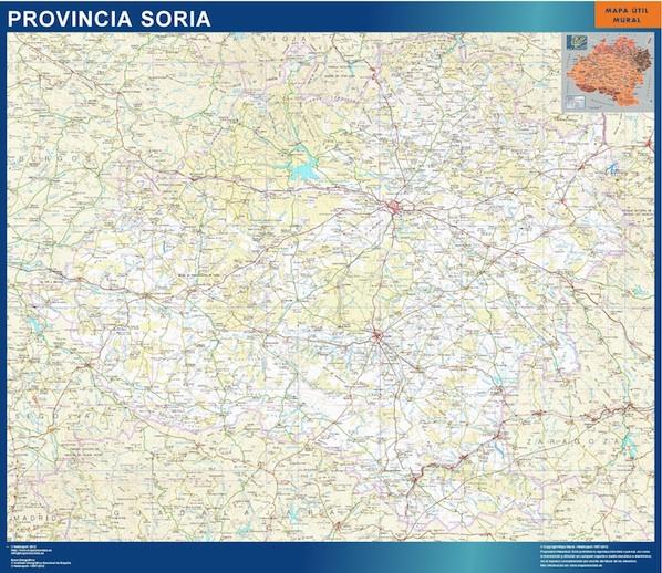 mapa provincia soria