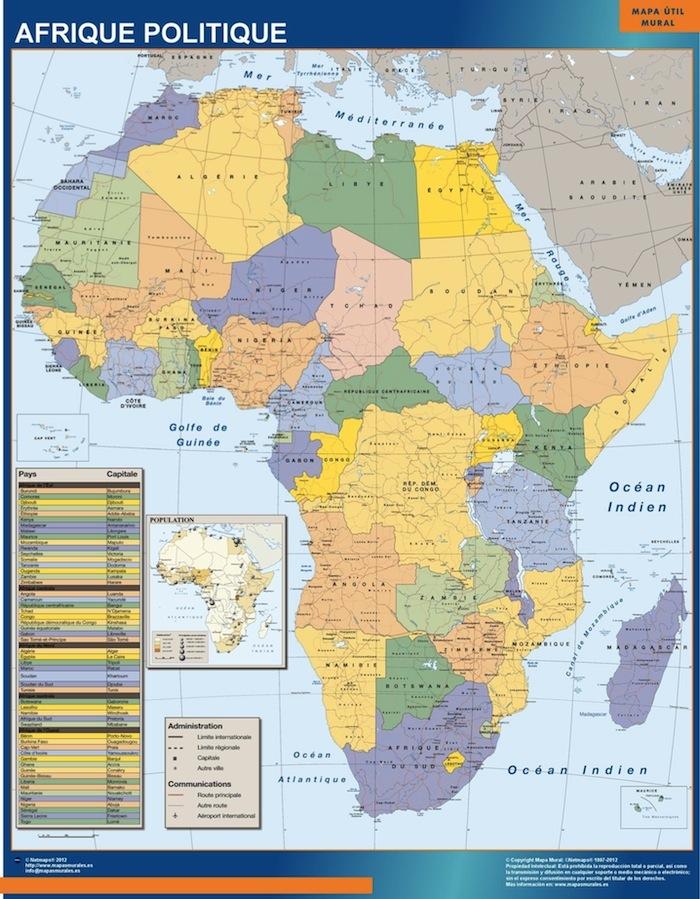 Mapa Africa Politico Mural