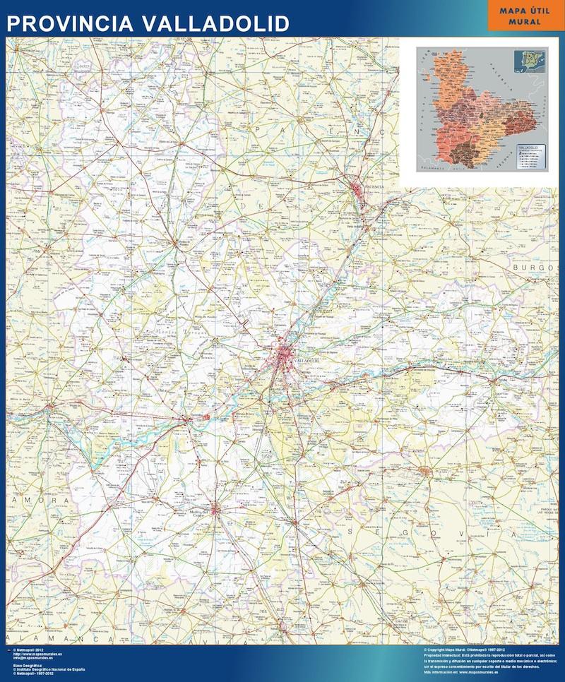 mapa mural valladolid