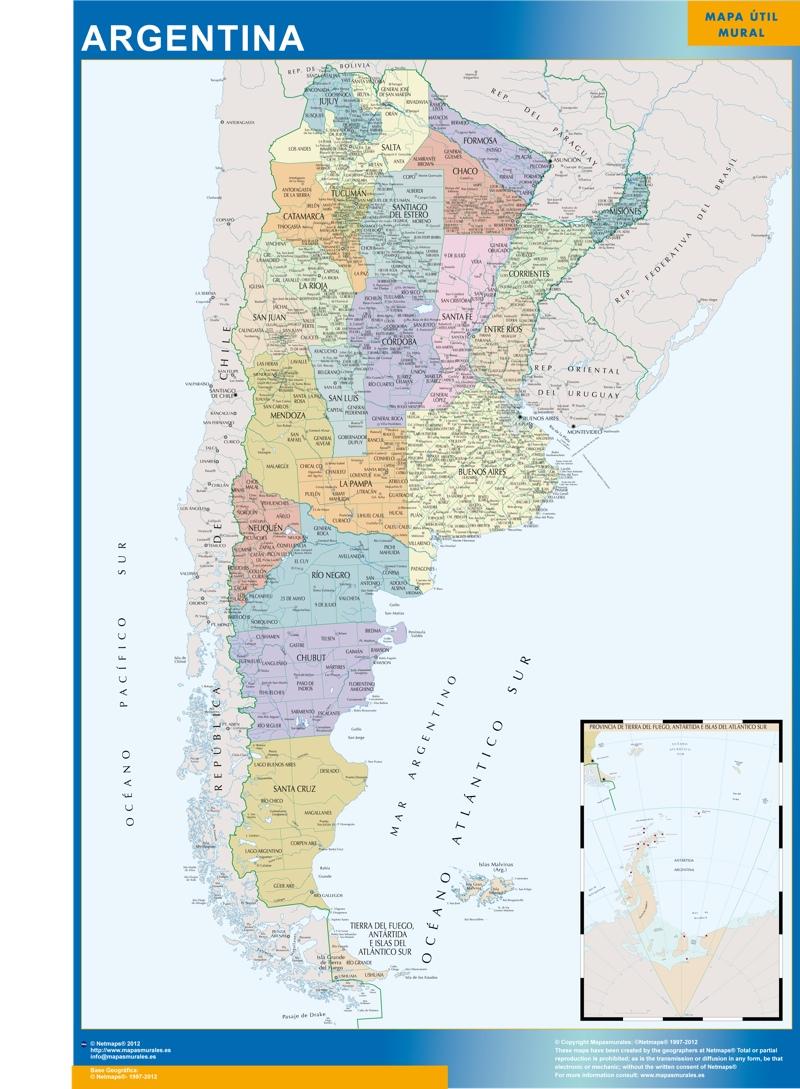 Mapa Mural Argentina