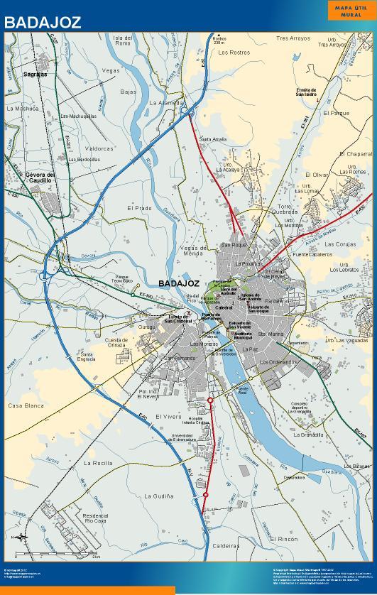 mapa Badajoz accesos
