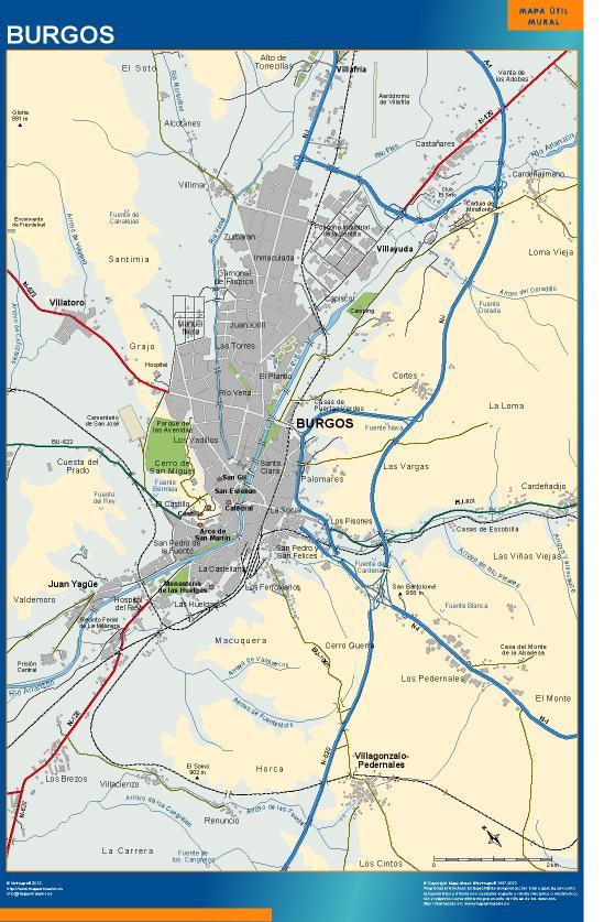 mapa Burgos accesos