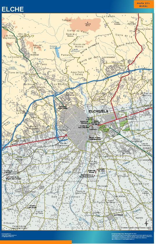 mapa Elche accesos