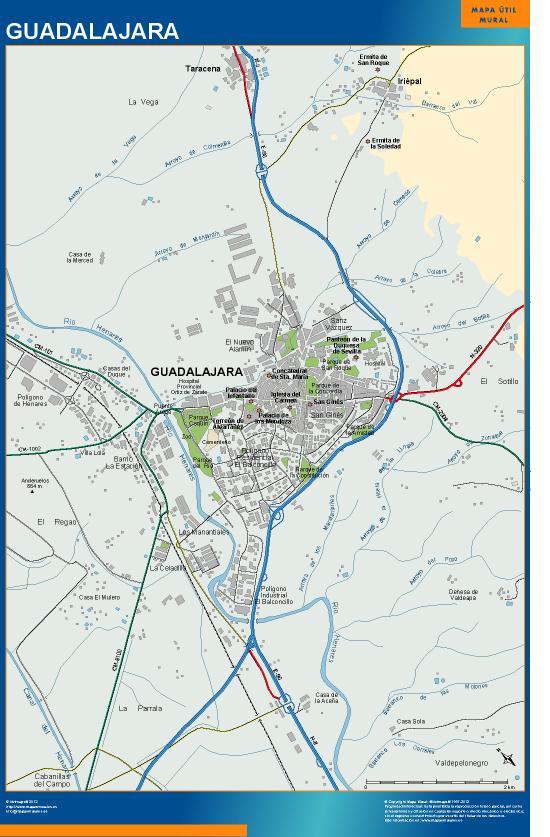 mapa Guadalajara accesos