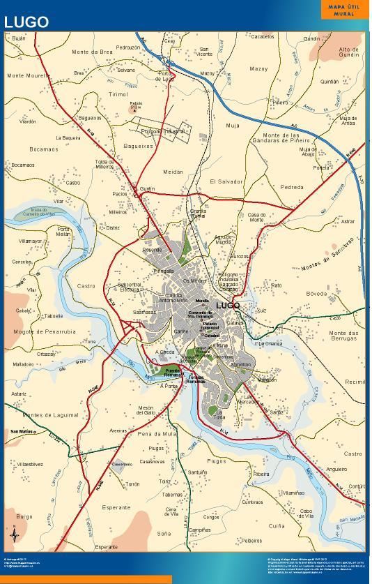mapa Lugo accesos