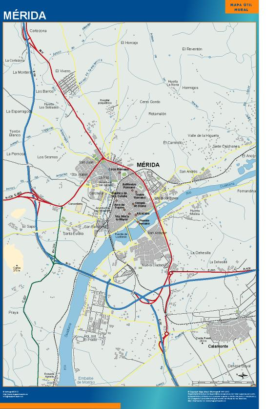 mapa Merida accesos