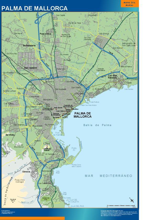 mapa Palma Mallorca accesos