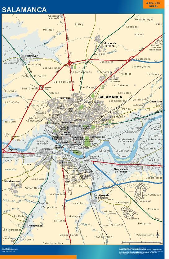 mapa Salamanca accesos