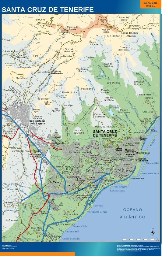 mapa Santa Cruz de Tenerife accesos