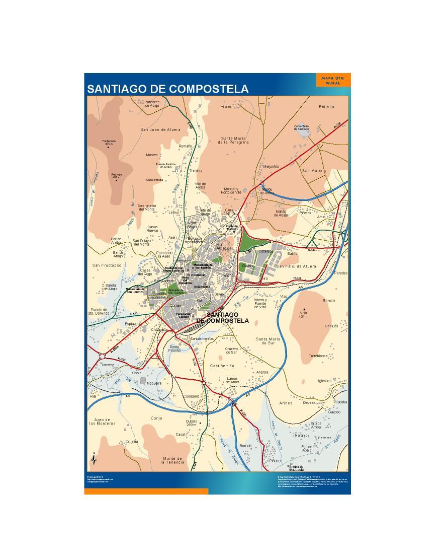 mapa Santiago de Compostela accesos