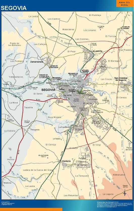 mapa Segovia accesos