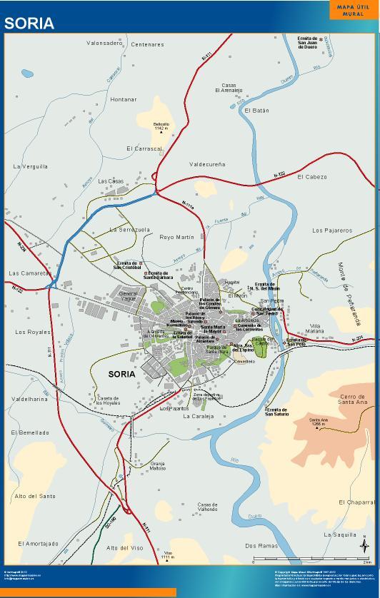 mapa Soria accesos