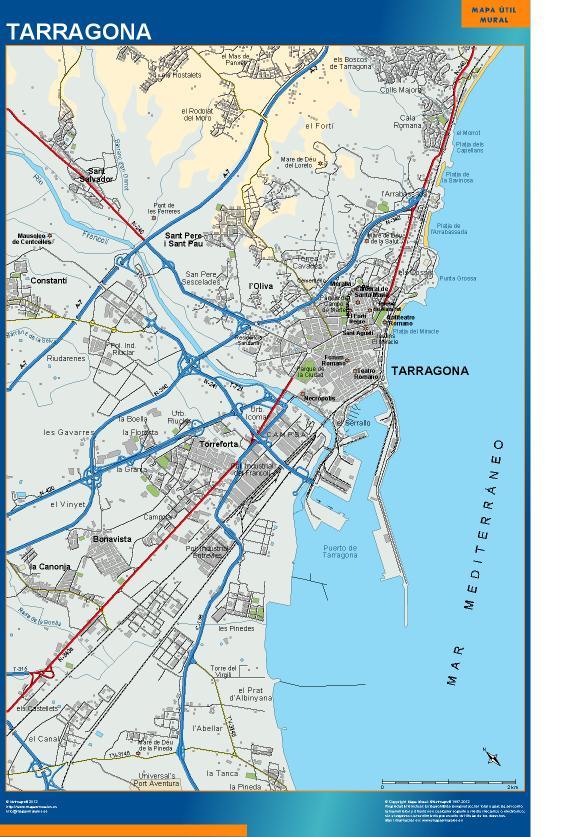mapa Tarragona accesos