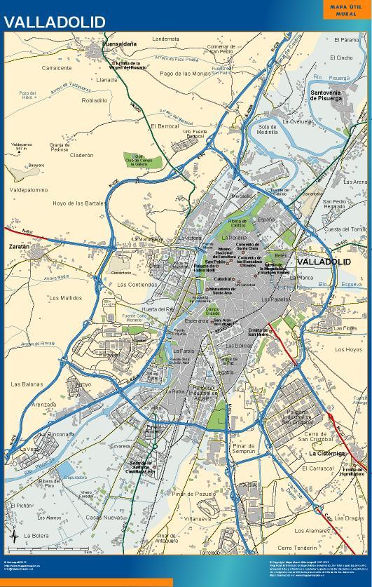 mapa Valladolid accesos