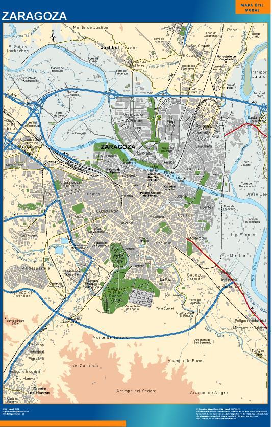 mapa Zaragoza accesos
