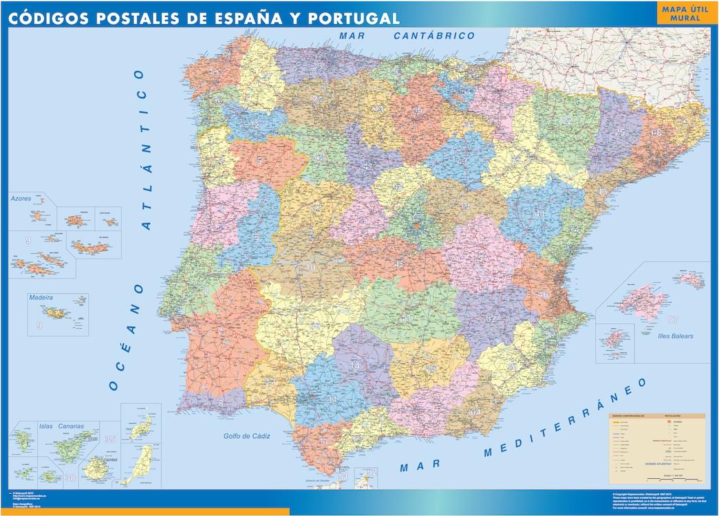 mapa espana codigos postales
