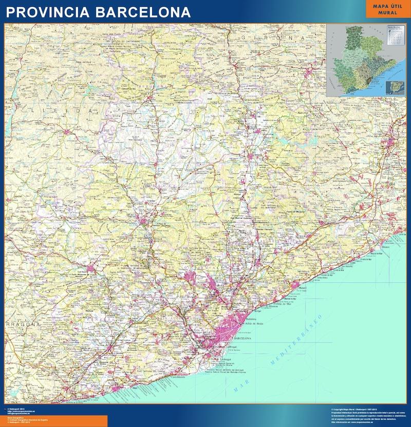 mapa provincia barcelona