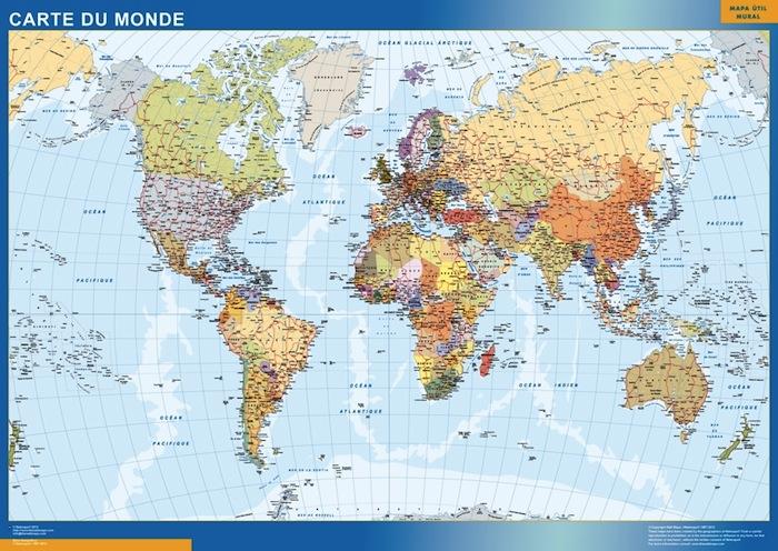 carte monde francais