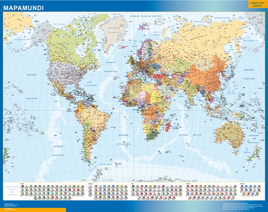 mapamundi banderas mundo