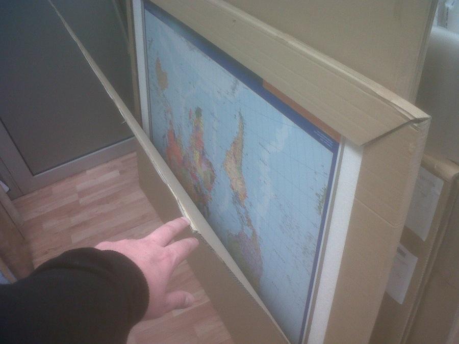 Comprar mapa enmarcado magnetico