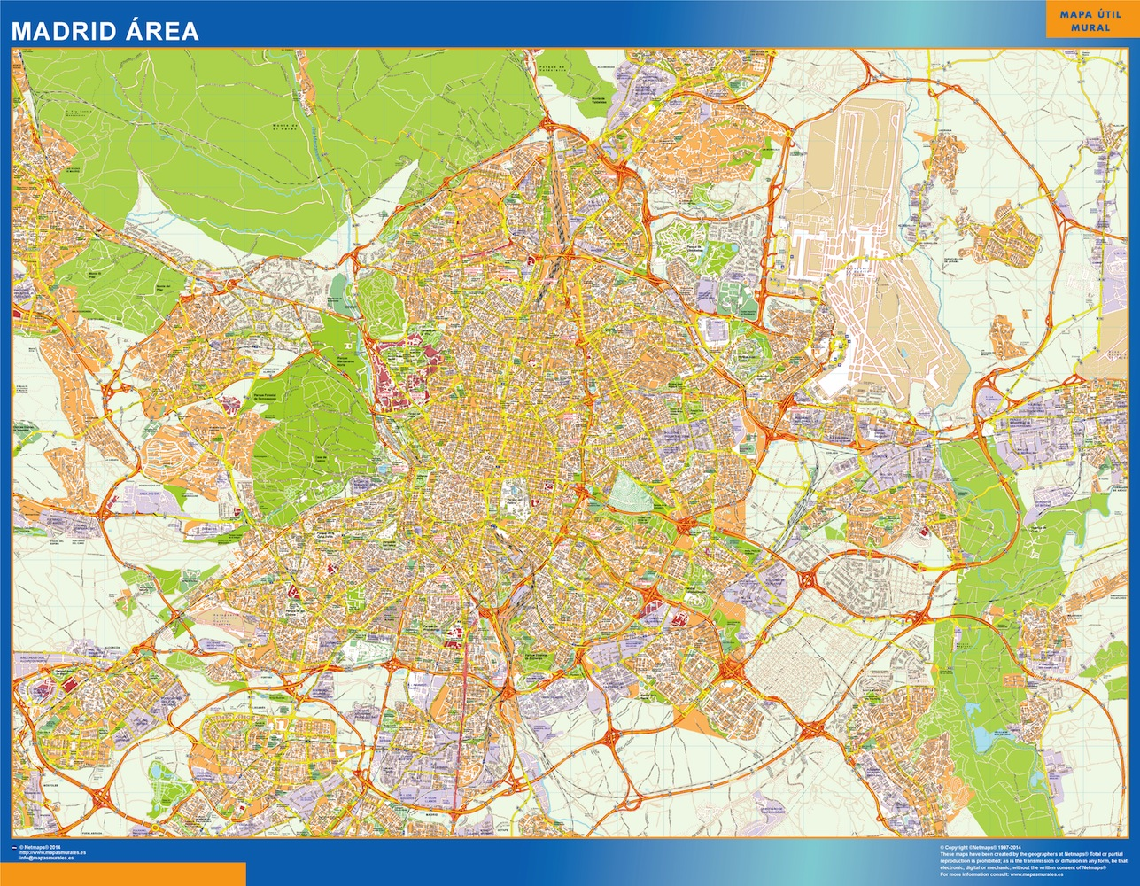 mapa Madrid Area