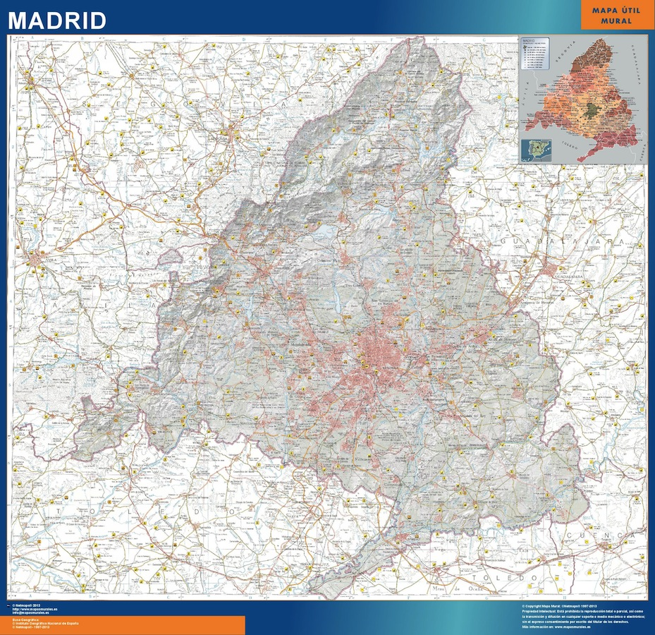 mapa comunidad madrid