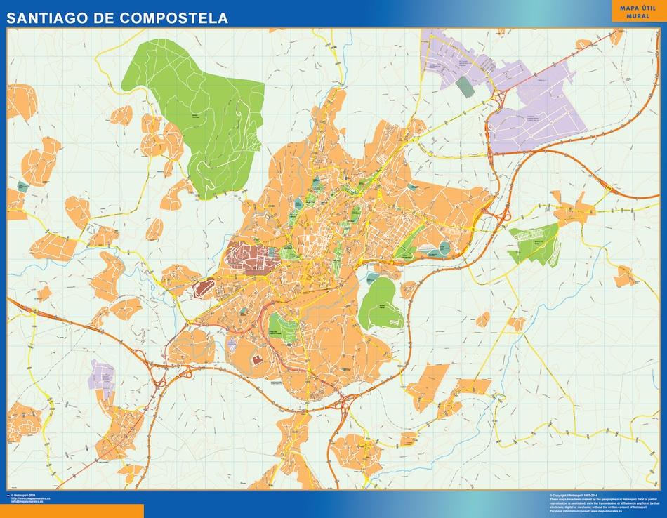 mapa mural santiago compostela