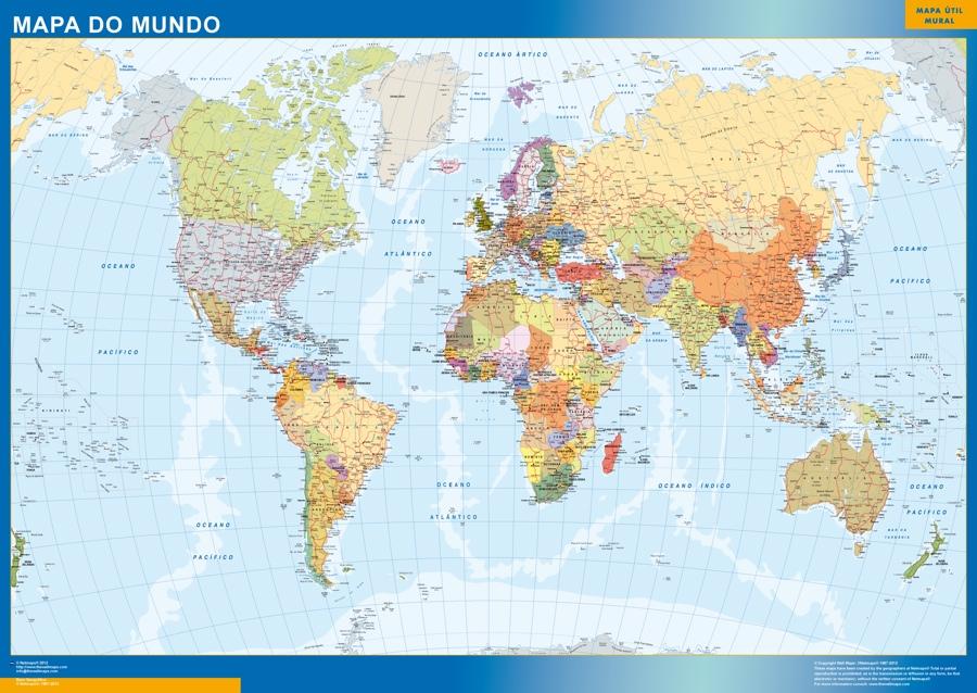 mapamundi en portugues