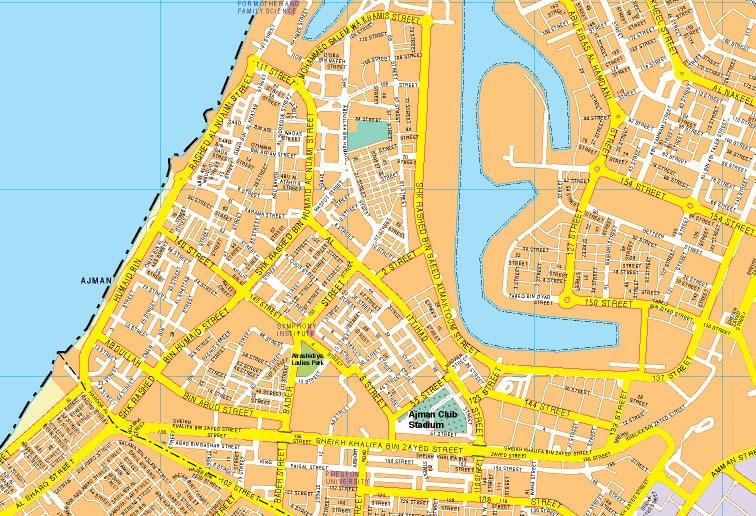 Ajman mapa