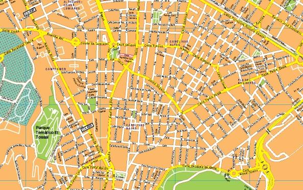 Mapa De Huelva Capital.Mapas Alicante Mapas Murales Espana Y El Mundo