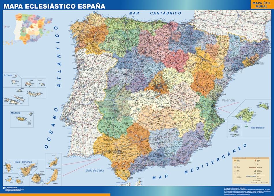 mapa eclesiastico España