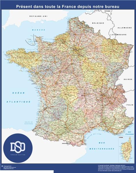 mapa francia personalizado