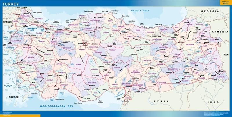 mapa turquia