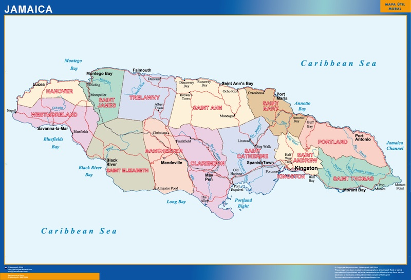 mapa jamaica