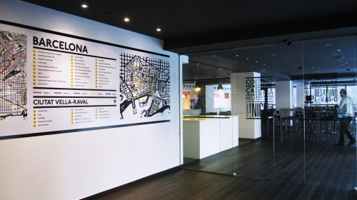 mapa vinilo barcelona
